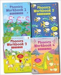 Usborne Phonics Activity Pack 1-4 Books and 250 Stickers (Usborne ...