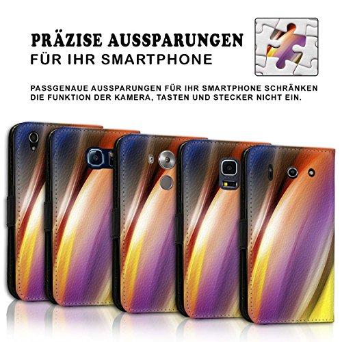 Wallet Book Style Flip Handy Tasche Case Schutz Hülle Schale Motiv Etui für Apple iPhone 5 / 5S - Design Flip MVD378