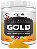 Organic Superfood Powder- Organifi Gold Super Food Supplement – 30 Day Supply – Experience Deeper Sleep- Boosts Immune System and Cognitive Function – Turmeric and Reishi Infused – Golden Milk – Detox Review