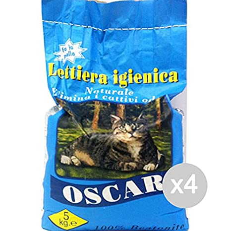 Juego 4 Oscar Arenero Gatos Cat kg 5 Natur) para gatos mascotas: Amazon.es: Productos para mascotas