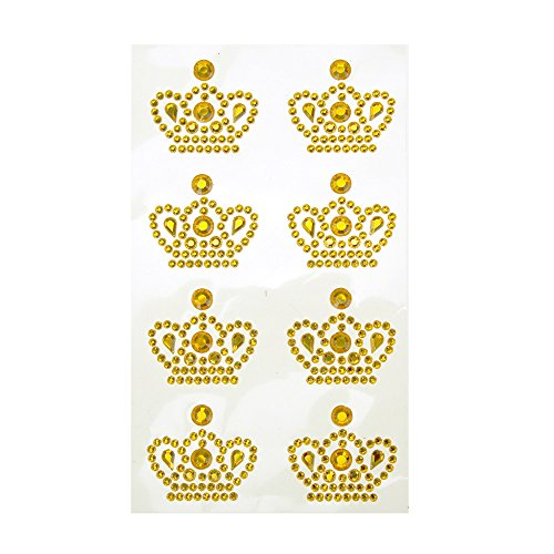 (Homeford Royal Crown Adhesive Rhinestone Stickers, 8-Count (Gold) )
