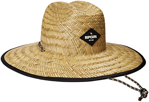 Rip Curl Men's Paradise Straw Lifeguard Sun Hat, Sable, One (Mens Straw Hat)