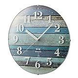 BRUNO Radio Vintage Wood Clock Blue BCR008-BL