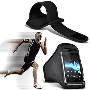 ( Black ) Nokia Lumia 610 Sports Running Arm Band Jogging Librar Bike Ciclismo Gimnasio bolsa del caso de la cubierta por ONX3