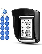 OBO HANDS 10 RFID Keychains + Waterproof Rain Cover + Rfid Metal Keypad Supports 1000 Users Wiegand-26 Interface (Input / Output)