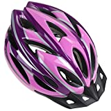 Zacro Adult Bike Helmet - CPSC Certified Cycle Helmet, Specialized for Women Safety Protection, Bonus with a Headband, Pink Plus Purple Helmet