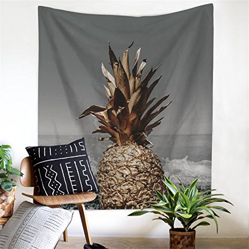 """Pineapple Decor Tapestry Wall Hanging Decor Art Home Decor, Bedroom Living Room Dorm Wall Hanging Tapestry Beach Throw/Table Runner/Cloth(GT11-P-1)(W:79\""""H:59\"""")"""