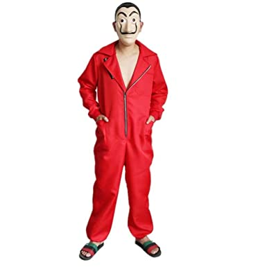 Amazon.com: La Casa De Papel Costume with Salvador Dali Mask ...