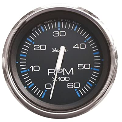 Faria 33710 Chesapeake Black 6000 rpm Tachometer: Automotive