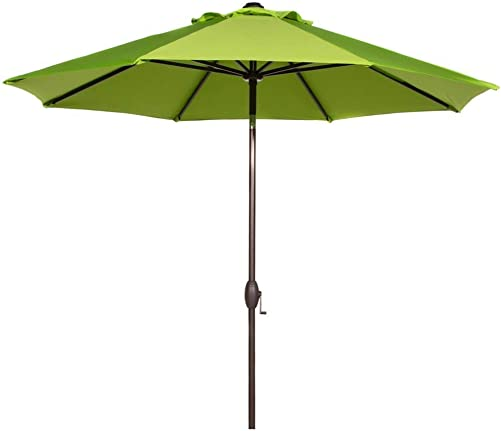 Abba Patio 9 Feet Patio Umbrella Market Outdoor Table Umbrella with Auto Tilt and Crank, Lime Green