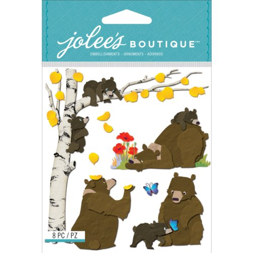 Jolee's Boutique Dimensional Stickers, Bear Family