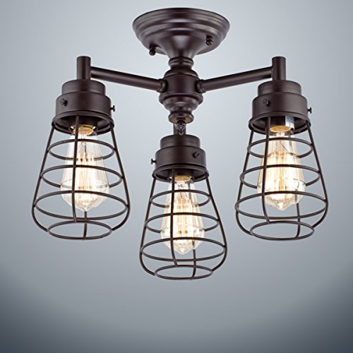 Dazhuan Vintage 3 Lights Chandelier Ceiling product image
