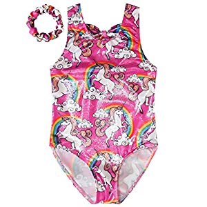Gymnastics Leotards for Girls Sparkly Unicorn Outfits Activewear Quick Dry