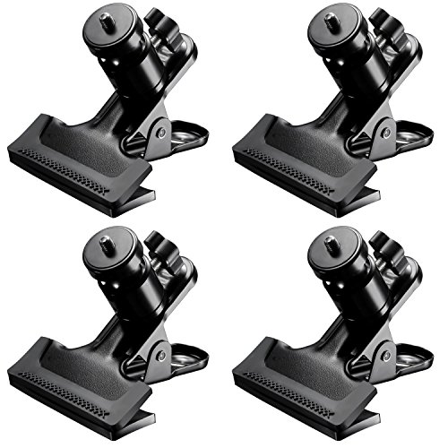 Neewer 4 Packs Multi Functional Spring Clamps, Camera Mount with 4 Pieces 1/4-inch Screw Tripod Ball Head Hot Shoe Adapters for SLR, DSLR, Video Cameras by Neewer