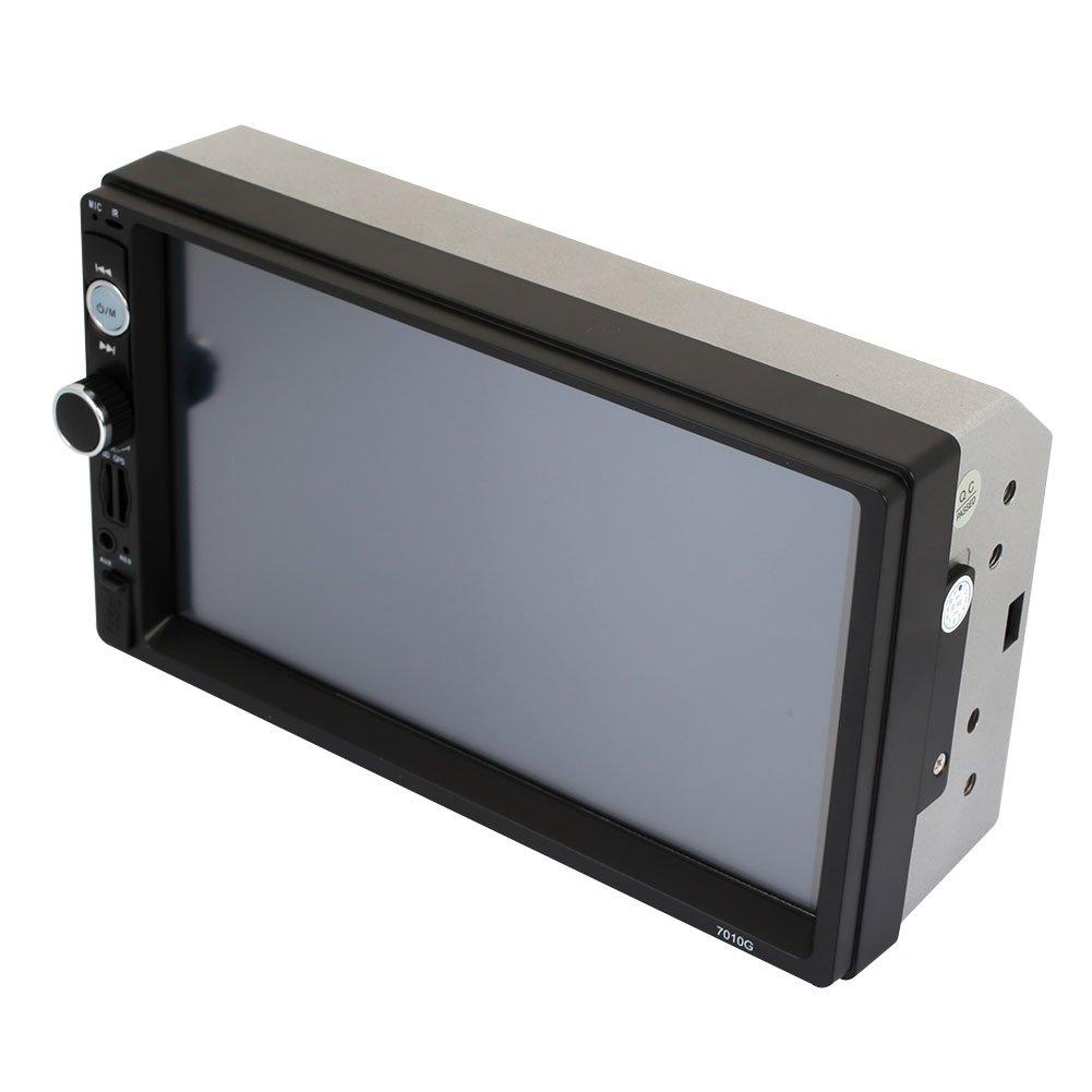TOPmountain Lecteur vid/éo Lecteur multim/édia pour Voiture Lecteur MP5 Fonction de Navigation GPS Intelligente Flexible 7Audio 7010G MP5 pour Automobile