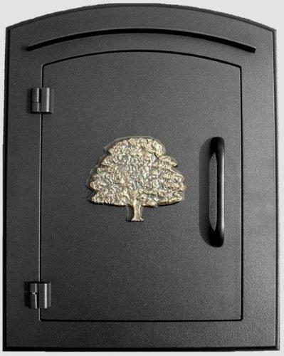 Qualarc MAN-1404-BL Manchester Column Mount Mailbox With