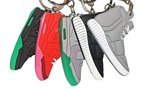 Full Set of 5 Yeezy 2D Sneaker Flat Keychains