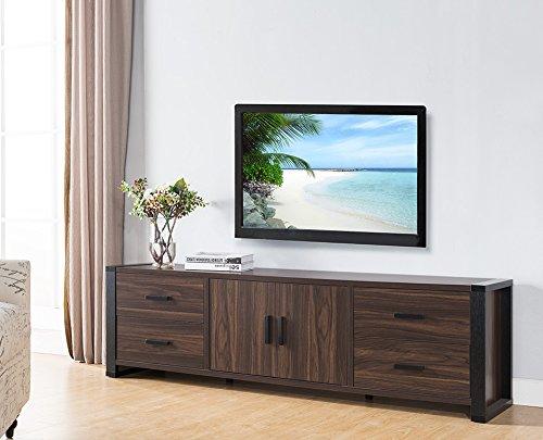 Smart home Dark Walnut & Black Edition TV Stands (70 Inch, Dark ()