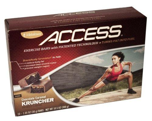 Melaleuca Access Exercise Bars-Chocolate Caramel kruncher (10-1.05 Oz Bars)