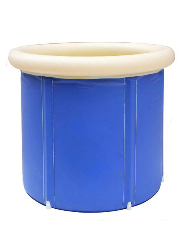 Inflatable Bathtub Foldable Pool Inflatable Bath Barrel For Adult Children SPA, Blue (Color : S 6570cm)