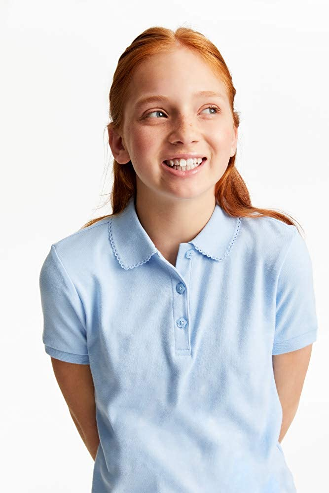 Standard /& Plus French Toast Girls Short Sleeve Picot Collar Polo Shirt