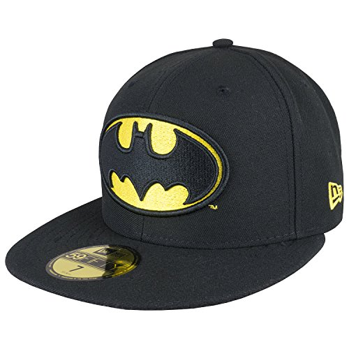 New Era Cap Marvel Batman Basic Logo Fitted 6 7/8-8(7 1/2) Black
