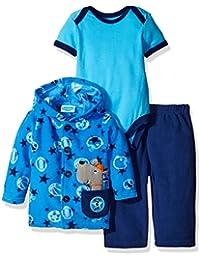 BON BEBE Baby Boys'' 3 Piece Microfleece Jacket Set with Bodysuit and Pant