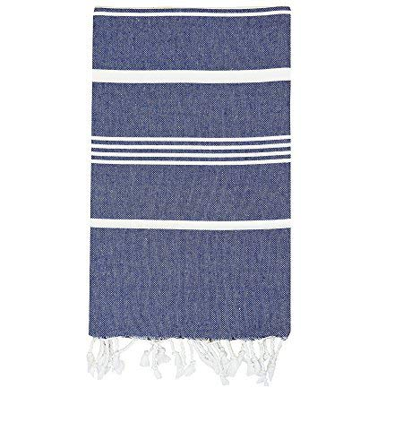 100% Natural Turkish Cotton Bath Beach Spa Sauna Hammam Yoga Gym Towel Fouta Peshtemal Easy Care Absorbent Pestemal Navy