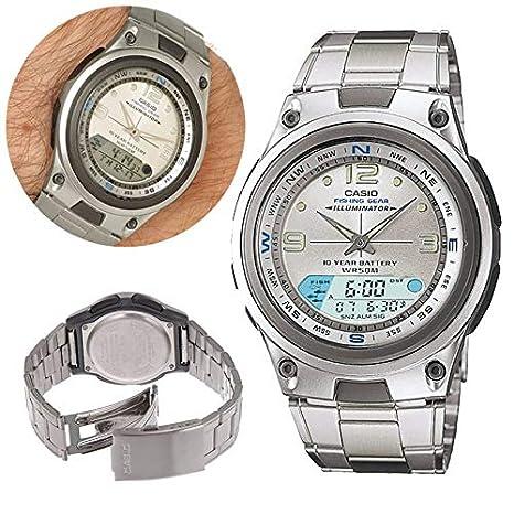 d2763f3273dd Relogio Digital Masculino Analogico Prova Dagua Casio Alarme Pesca  Calendario Cronometro Lunar (aw-82d