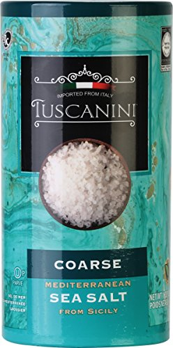 - Tuscanini, Coarse Mediterranean Sea Salt, 16oz Tube, From Sicily Italy
