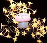 LuxLumi Mushroom Buddy & String Light Starter Kit for Girls & Boys, Kids Bedroom, Lighting Decor, Decorations, Home, Teen & College Dorm Room (Pink Buddy with Starry String Lights)