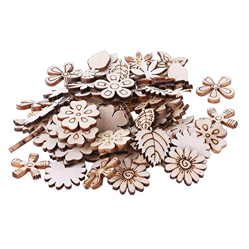 애니스턴 미술 및 공예 바느질 세트 100 개 나무 꽃 잎 꾸밈 DIY 장식은 공예 장식 바느질에 대한 공급 DIY 초보자 성인 어린이 청소년 여자 임의의 스타일