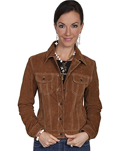 Scully Women's Suede Denim-Style Jacket Brown X-Large by Scully