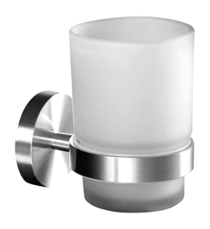 Zubehör Zahnputzbecher Mit 2 Zahnbürsten Halter Edelstahl Doppelglashalter