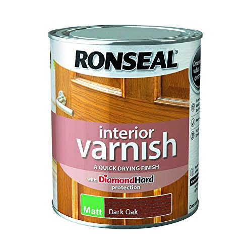 - Ronseal Interior Varnish Quick Dry Matt Dark Oak 750ml