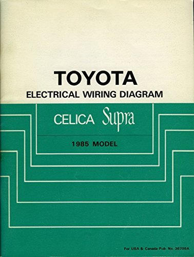 toyota electrical wiring diagram celica supra 1985 model 1990 Toyota Celica Supra