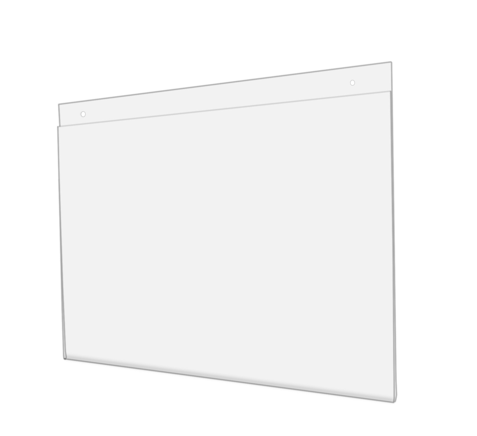 Marketing Holders Wall Mount Sign Holder Clear Ad Display Frame Acrylic Wholesale 17''w X 11''h With Holes Lot of 20 by Marketing Holders (Image #1)