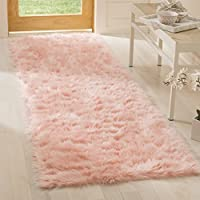 Safavieh Faux Sheep Skin Collection FSS235G Pink Area Rug, 2 x 3