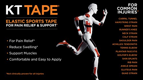 KT Tape PRO Synthetic Elastic Kinesiology Therapeutic Tape, Jumbo 150 Precut 10 Inch Strips, Blaze Orange by KT Tape (Image #7)