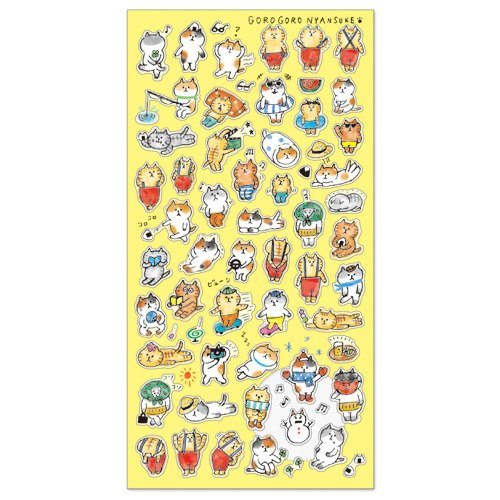 Mind Wave Japan GOROGORO NYANSUKE SEAL Collection Stickers (PuchiPuchi Nyansuke [ 77892 ])