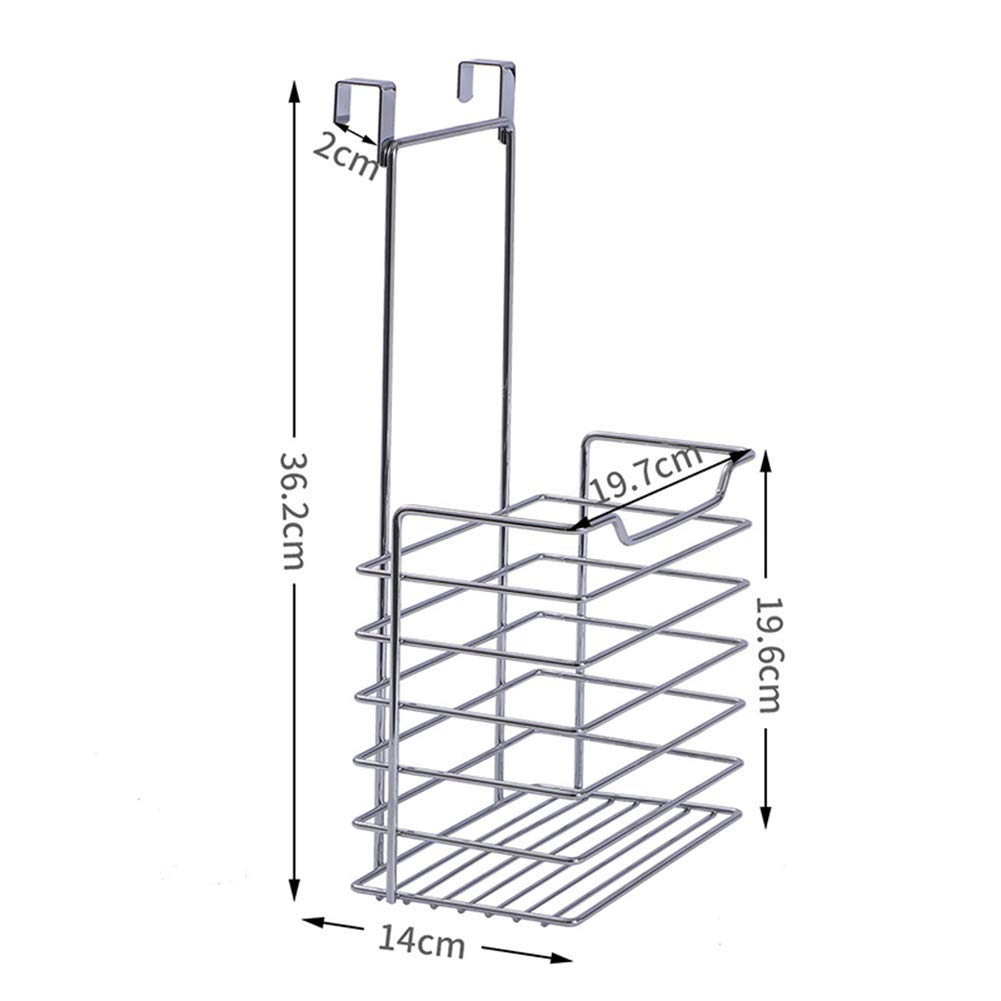 Shelf Storage Racks Storage Basket Shelf Baskets Kitchen Storage Rack Iron Art Hanger Cupboard Hanging Basket Wall-Mounted Spice Rack ZHAOYONGLI (Size : 19.714.36.2cm) by ZHAOYONGLI-shounajia (Image #4)