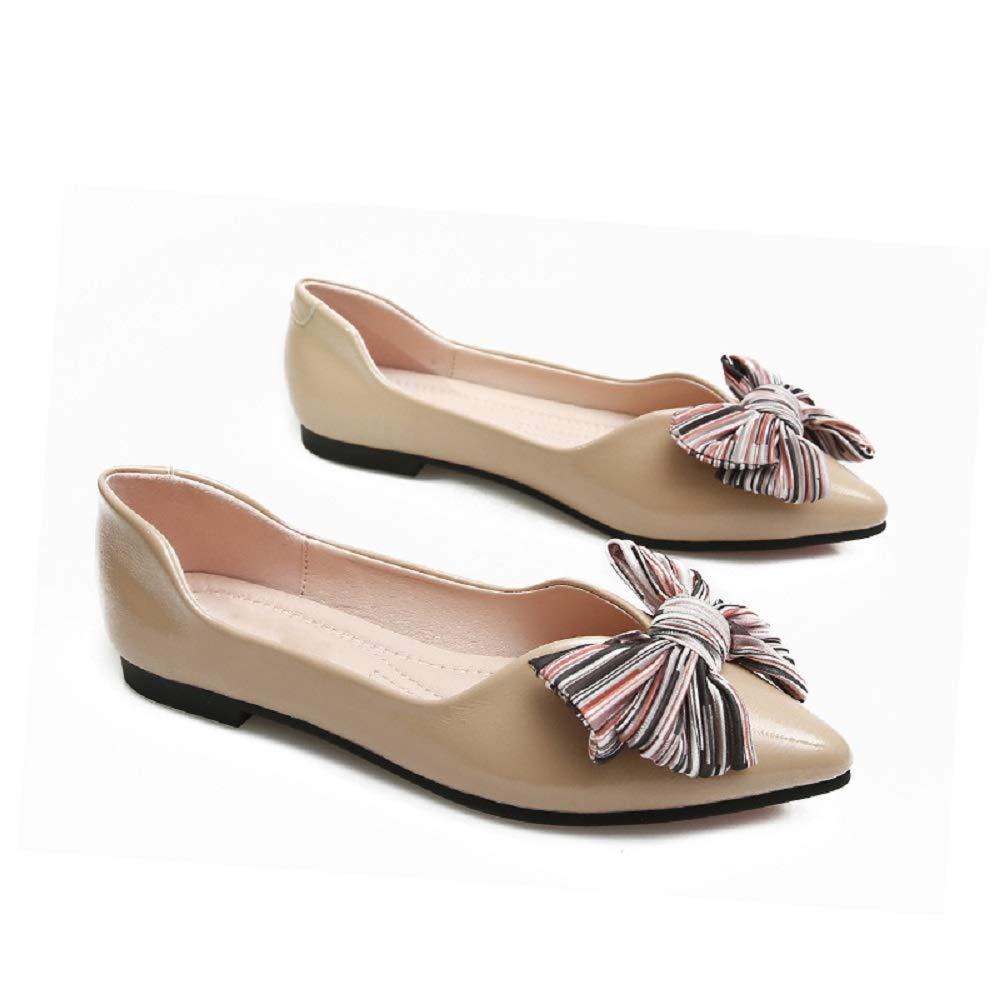 Qiusa : Knot Bouts Ballet Flats Femmes Beige Chaussures à Bouts Pointus (coloré : Beige, Taille : EU 37) Beige cb61ec2 - reprogrammed.space
