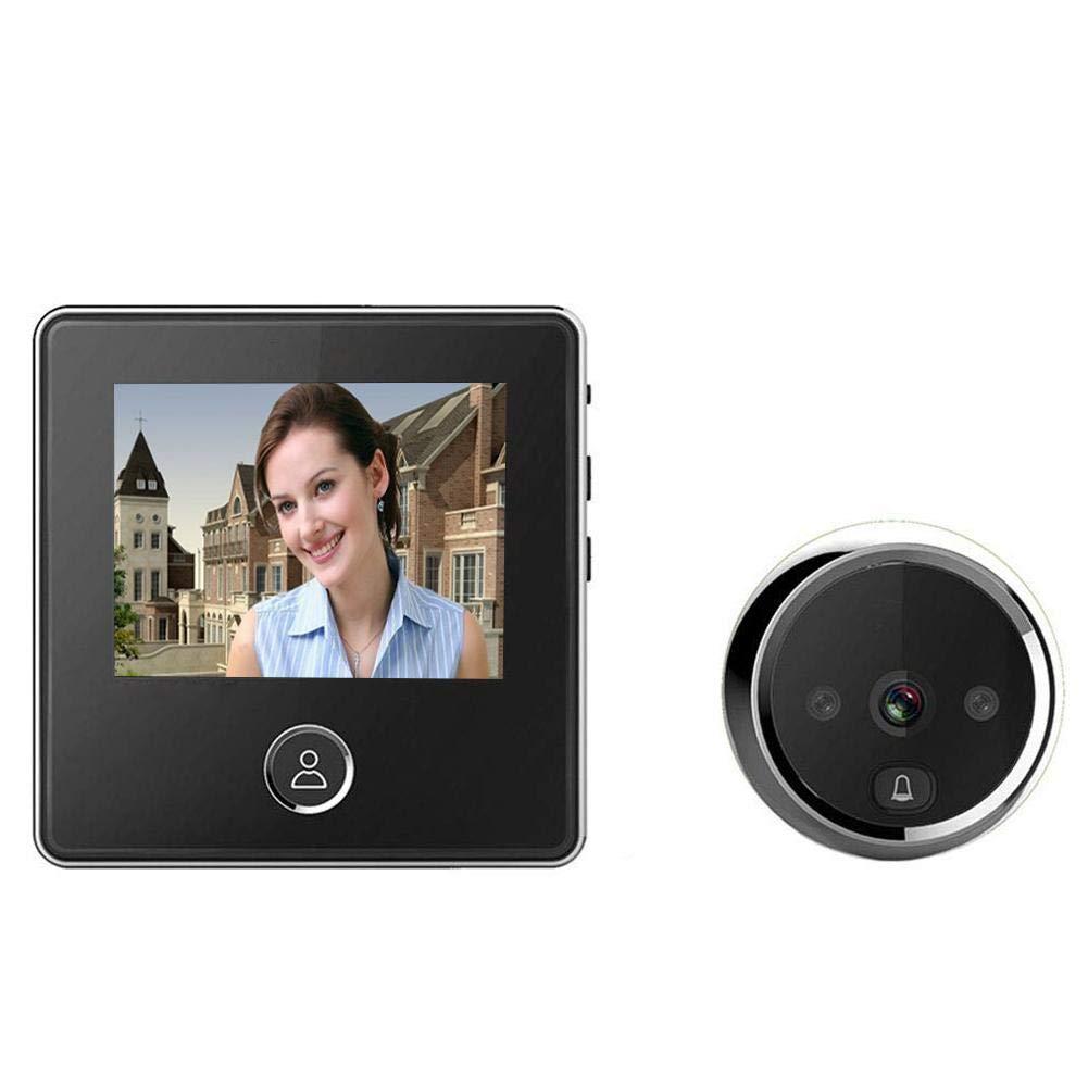 Sonnette, vidéo sans fil intelligent électronique œil de chat vidéo Sonnette écran LCD 7,6cm HD sans fil numérique de porte Viewer Ménage visuelle de caméra de sécurité avec d&eacut