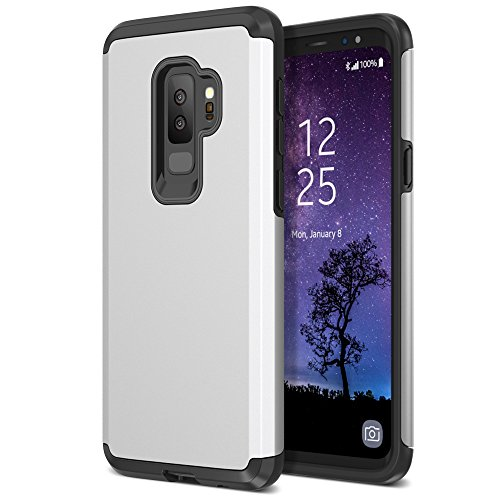 (Trianium Protanium Galaxy S9 Plus Case with GXD Impact Gel Cushion and Reinforced Hard Bumper Frame [Premium Protection] Heavy Duty Covers for Samsung Galaxy S 9 Plus (2018) Phone - Silver)