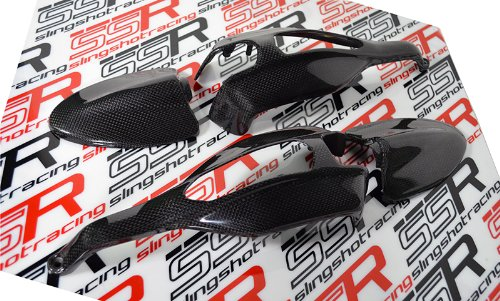 Ducati Hypermotard 796 1100 S/EVO/SP Carbon Fiber End Mirrors Turn Signal Hand Guard Protector ()