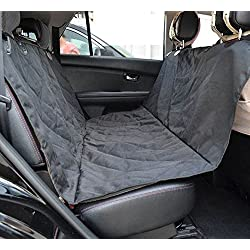 RiLahy PoochShield Dog Seat Cover a Large Size Anti-Slip Waterproof Pet Seat Cover Fits Cars, SUVs, Trucks, The Back Seat Hammock Sling Style Easy To Install Pet Travel Accessories Protects Your Seat