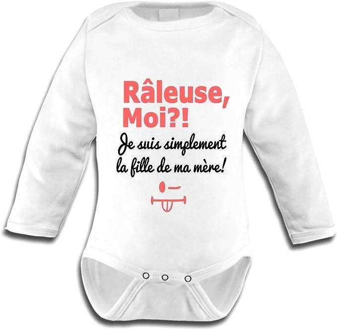 Noir//Lilas Maman Prend lap/éro Les lutins de Camille-Body b/éb/é Humour Fille Jpeux Pas