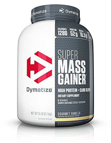 Dymatize Super Mass Gainer Protein Powder with 1280 Calories Per Serving, Gain Strength & Size Quickly, Gourmet Vanilla, 6 lbs ()