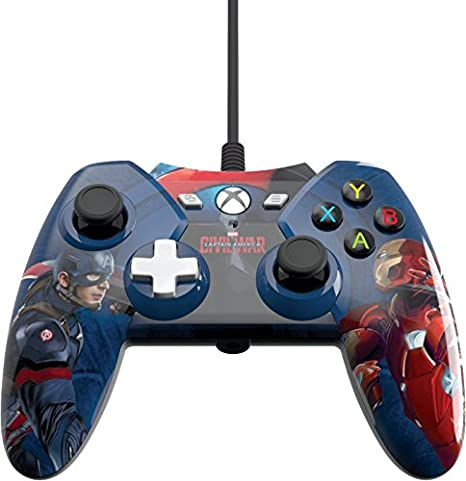 Xbox One Licensed Marvel Civil War Wired Controller With 3.5mm ...