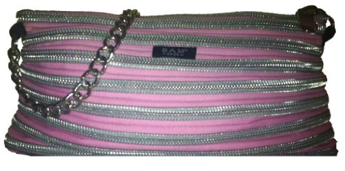 BAM Bags Women's Handbag Nylon Pink & Silver One Size (Handbag Bam Bags)